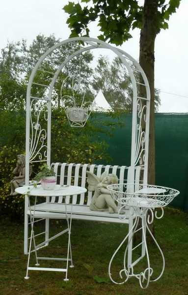 rosenbogen mit sitzbank rosenbogen nalles gartenbank. Black Bedroom Furniture Sets. Home Design Ideas